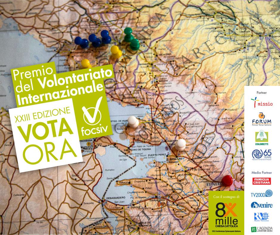 XXIII Premio del Volontariato Internazionale, AUCI candida la sua Giovane Volontaria