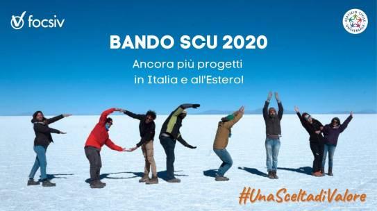 Pubblicato il Bando SCU 2020: ecco i nuovi progetti!
